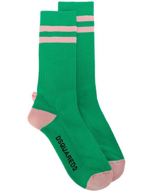 DSquared²   Green Calzini A Righe for Men   Lyst
