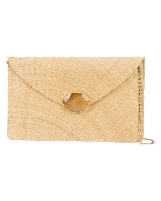 Kayu - Brown Chain Strap Envelope Clutch Bag - Lyst