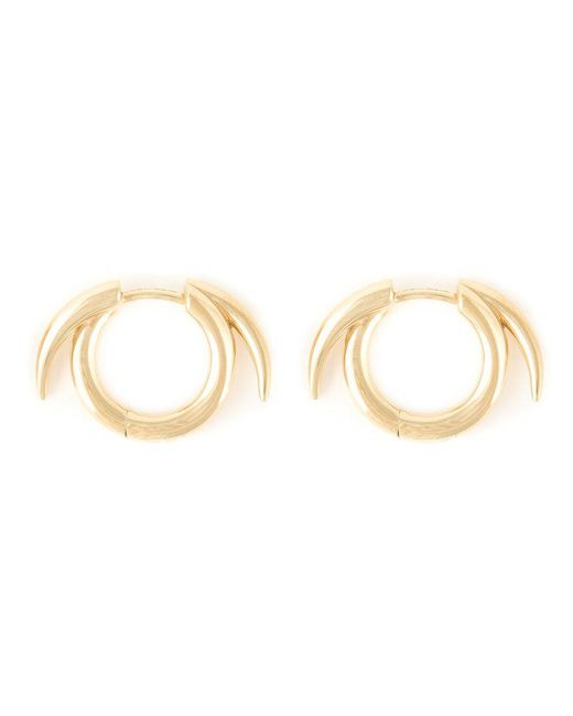 Shaun Leane | Metallic Thorned Hoop Earrings | Lyst