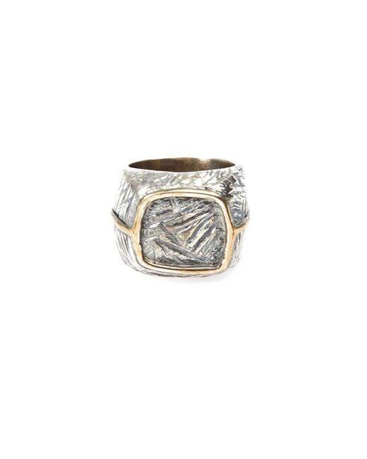 Tobias Wistisen - Metallic Bronze Square Ring for Men - Lyst