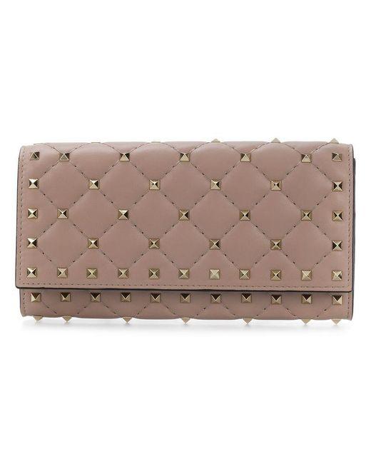 Valentino - Pink Garavani Rockstud Spike Wallet - Lyst