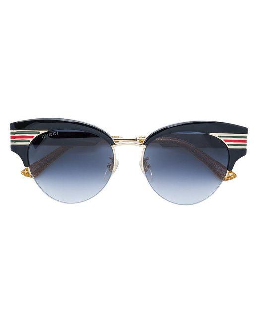 Gucci - Black Cat Eye Shaped Sunglasses - Lyst