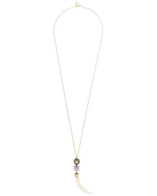 Iosselliani - Metallic Club Africana Pendant Necklace - Lyst