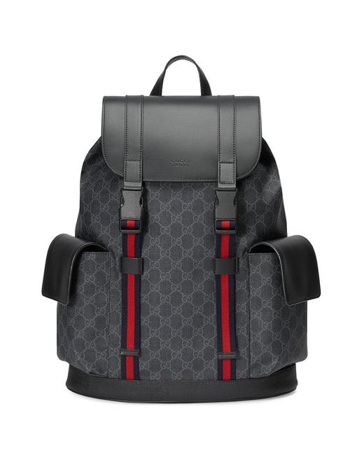 Gucci - Black Mochila Soft GG Supreme for Men - Lyst