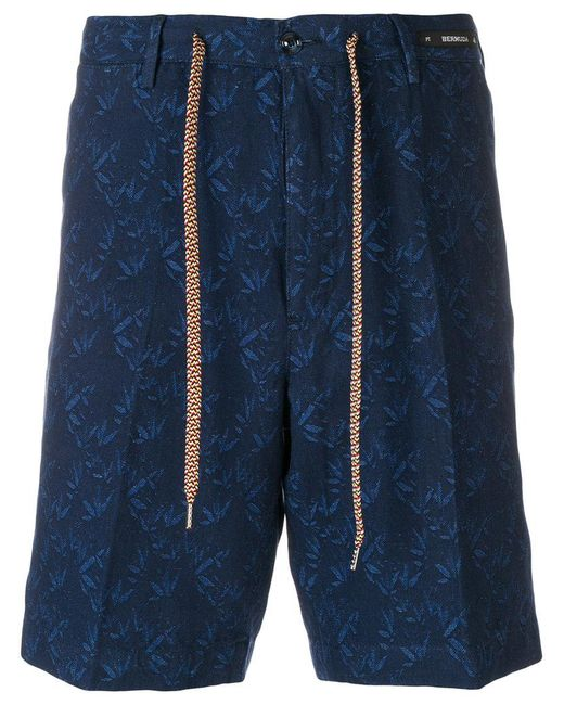PT01 - Blue Tailored Patterned Shorts for Men - Lyst