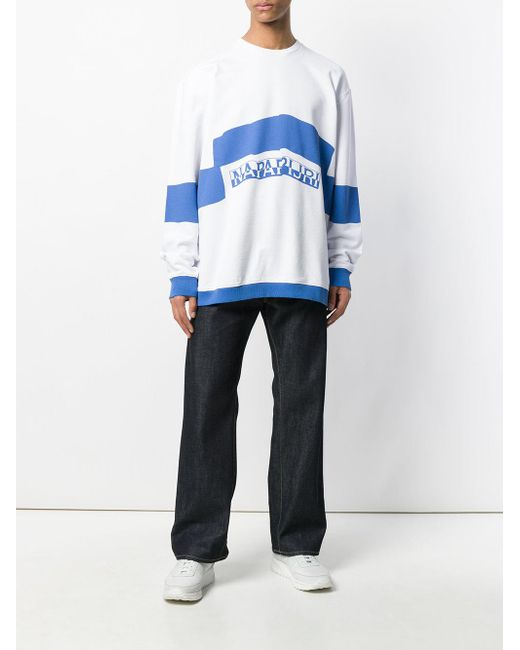 Sweat Martine White Bicolore Lyst Men Rose For Oversize x77rE1