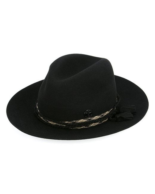 Maison Michel - Black Tassel Detail Hat for Men - Lyst