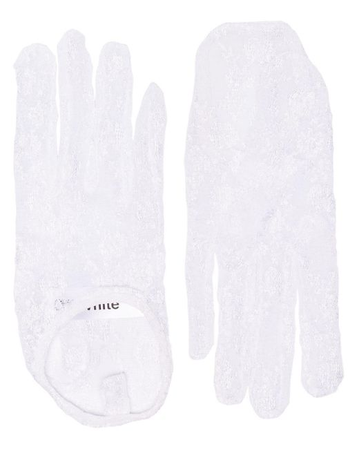 Off-White c/o Virgil Abloh - White Short Lace Gloves - Lyst