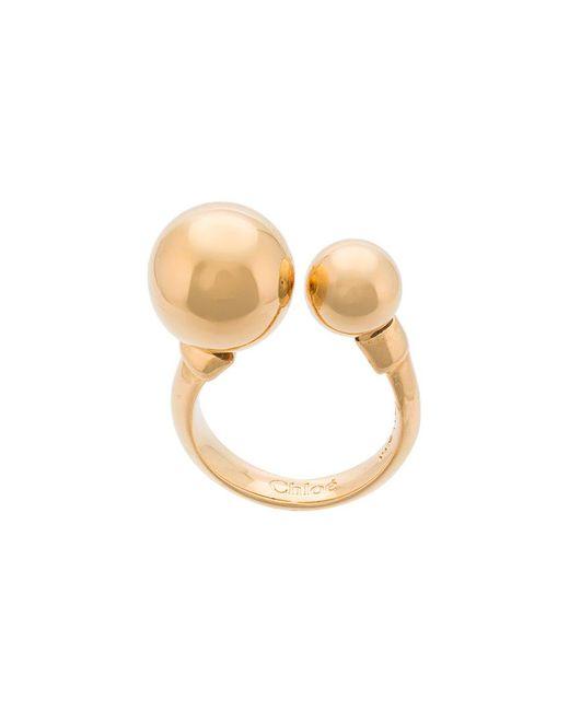Chloé   Metallic Bauble Ring   Lyst