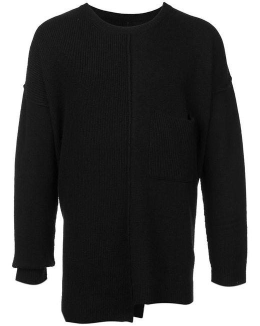 Yohji Yamamoto - Black Asymmetric Sweater for Men - Lyst