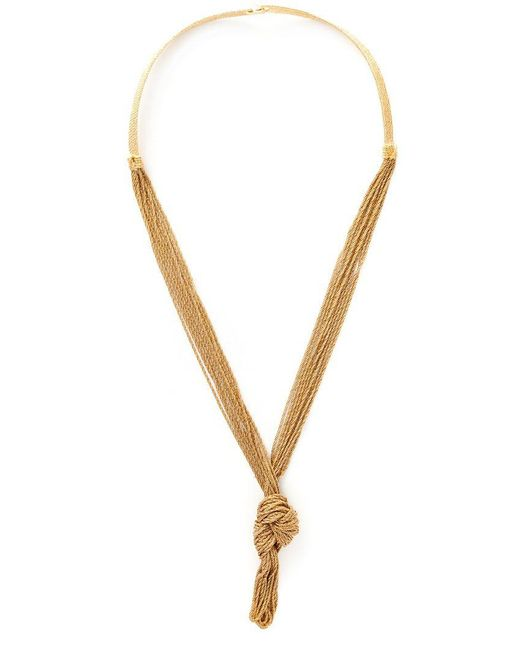 Aurelie Bidermann - Metallic 'miki Dora' Statement Necklace - Lyst