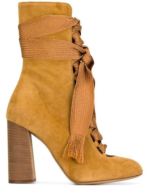 Chloé - Yellow Chloé 'harper' Ankle Boots - Lyst
