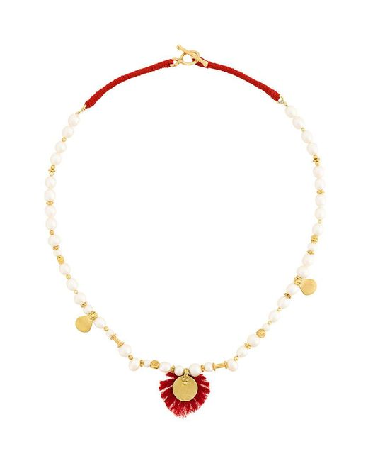 Katerina Makriyianni - White Tassie Pearl Necklace - Lyst