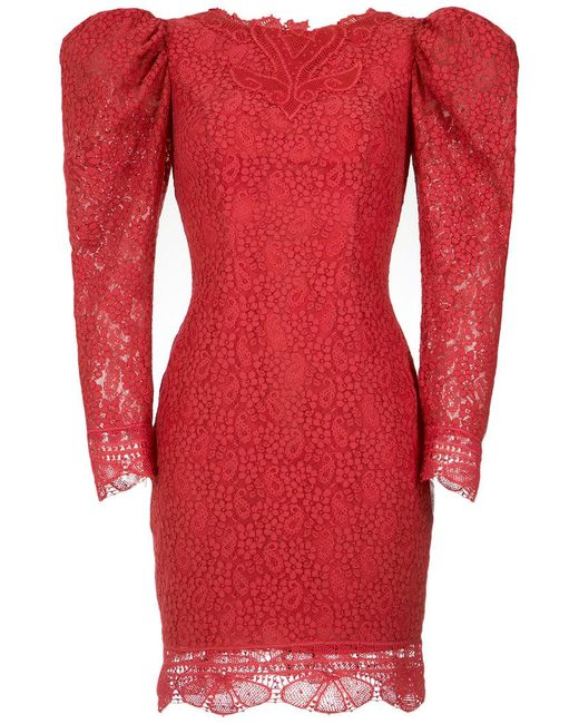Martha Medeiros - Red Lace Belle Dress - Lyst
