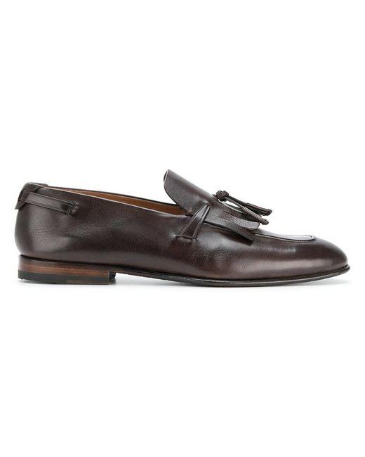 Silvano Sassetti - Brown Tassel Loafers for Men - Lyst