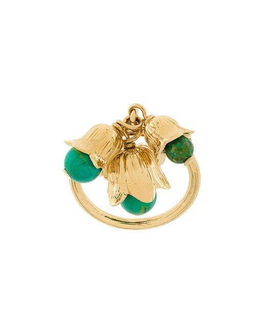 Aurelie Bidermann - Metallic Lily Ring - Lyst