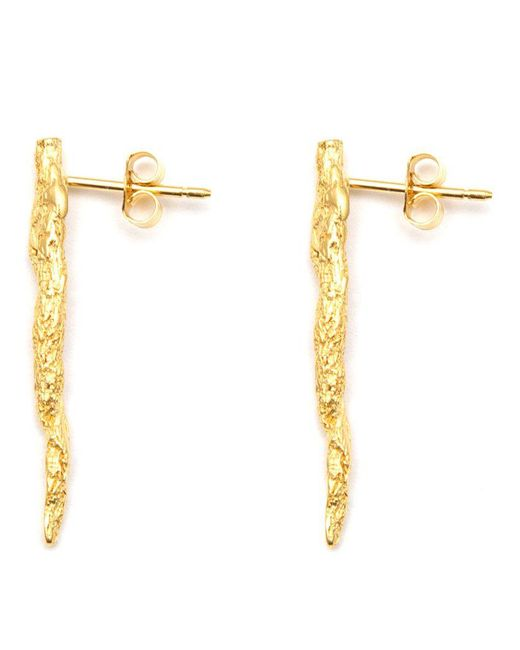 Niza Huang - Metallic 'illusion Stick' Earrings - Lyst