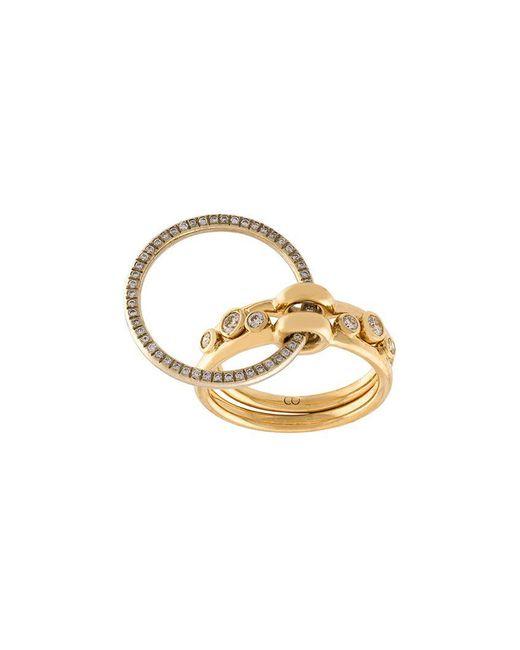 Charlotte Chesnais - Multicolor Three Part Diamond Ring - Lyst