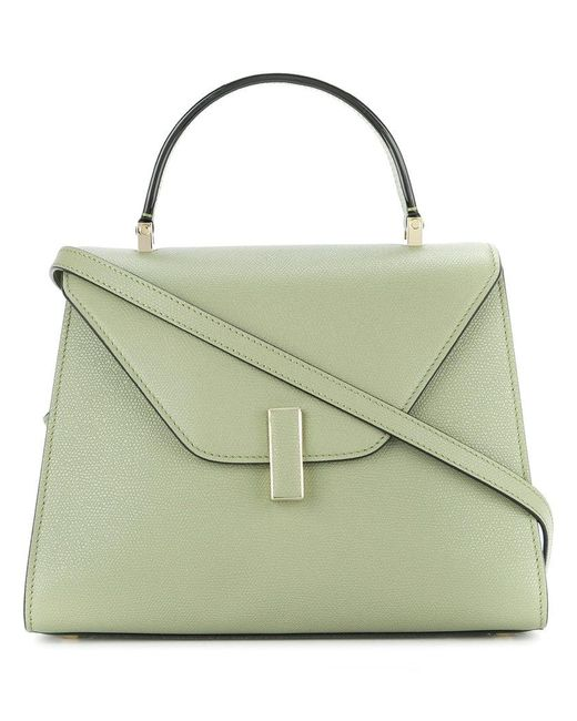 Valextra - Green Structured Flap Top Tote Bag - Lyst