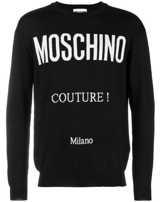 Moschino - Black Couture Print Jumper for Men - Lyst
