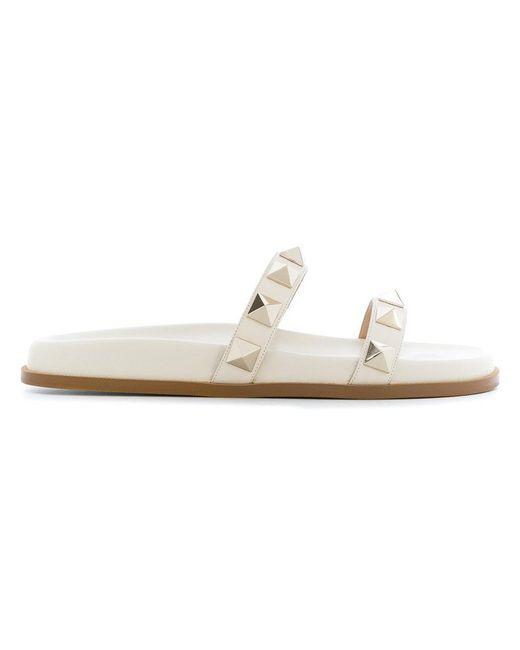 Valentino - White Garavani Macro Stud Slides - Lyst