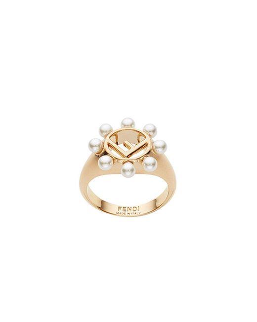 Fendi - Metallic Embellished Ring - Lyst