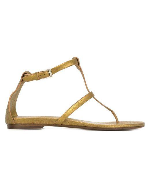 Roberto Del Carlo - Metallic (grey) Flat Sandals - Lyst