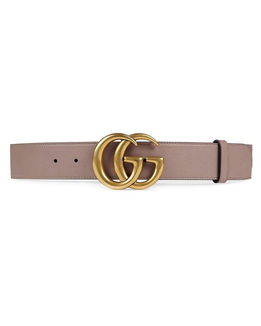 Gucci | Multicolor Leather Belt With Double G Buckle | Lyst