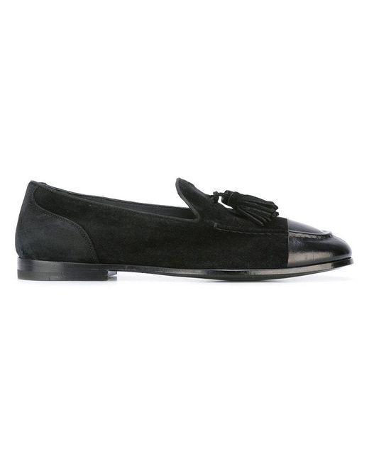 Alberto Fasciani | Black Classic Tasseled Loafers | Lyst