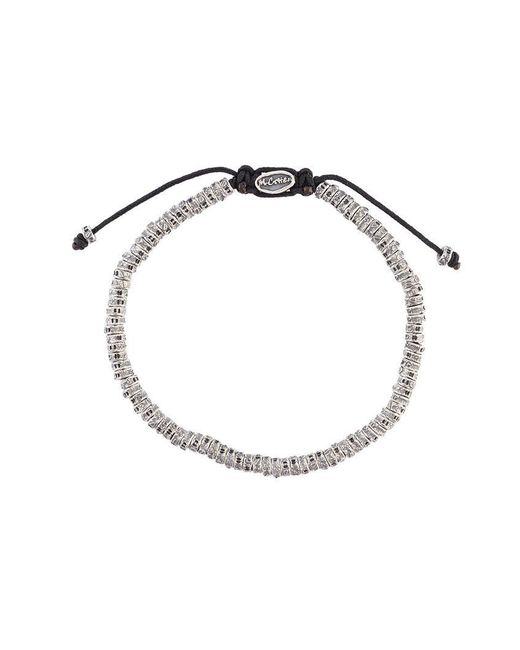 M. Cohen | Metallic 'mini Fish Bone' Bracelet for Men | Lyst