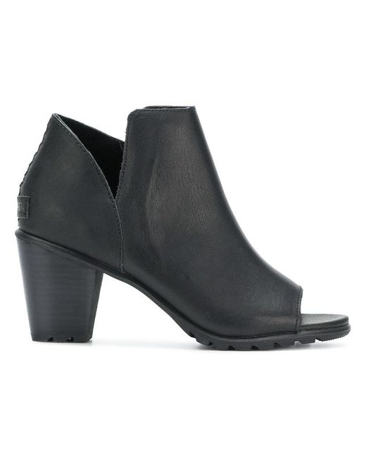 Sorel - Black Open Toe Bootie Sandals - Lyst