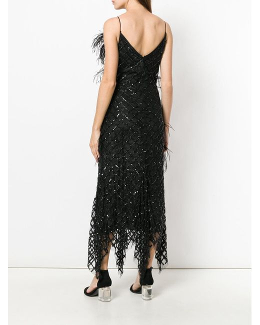 Amen sequinned feather detail dress Cheap Sale With Paypal Outlet Fashionable Buy Cheap Manchester Great Sale 9YQ1Gsu9P0