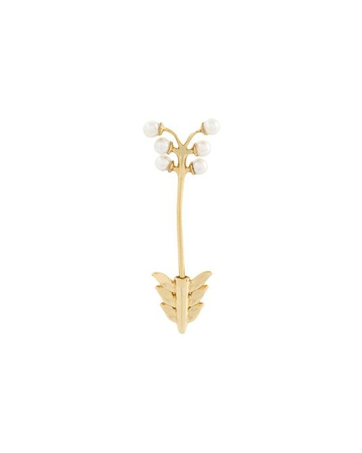 Yvonne Léon - Metallic Arrow Through Earring - Lyst