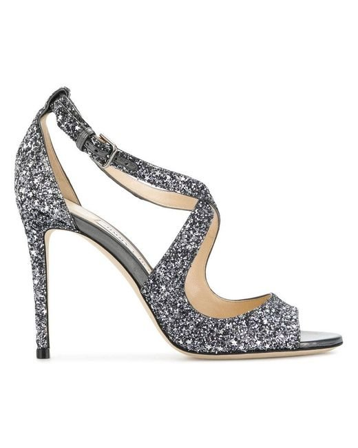 007407206130 Jimmy Choo - Metallic Emily 100 Sandals - Lyst ...