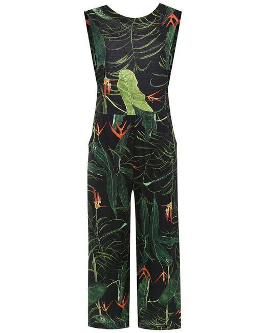 Osklen - Black Wide Leg Cropped Jumpsuit - Lyst