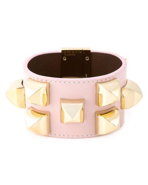 Givenchy - Pink Studded Cuff - Lyst