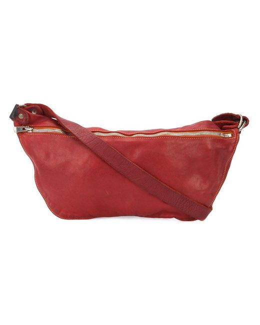 Guidi - Red Zip Messenger Bag - Lyst