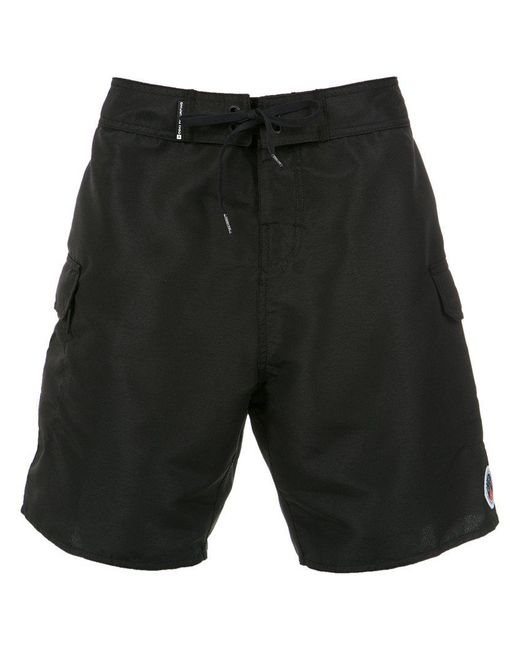 stitching details shorts - Black Osklen
