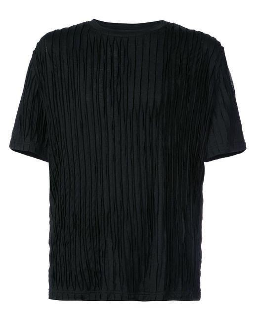 Private Stock Black Short Sleeve Textured T-shirt for men
