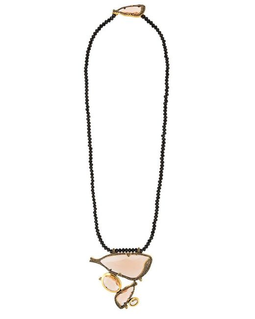 Camila Klein - Metallic Embellished Pendant Necklace - Lyst