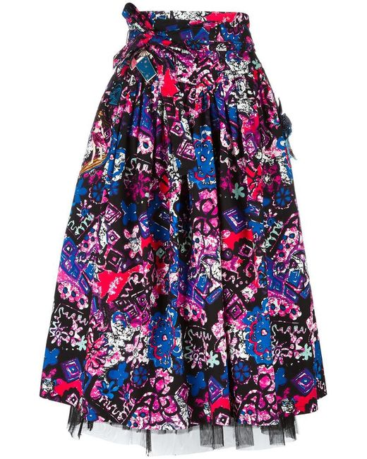 Marc Jacobs | Black Daisy Belted Skirt | Lyst