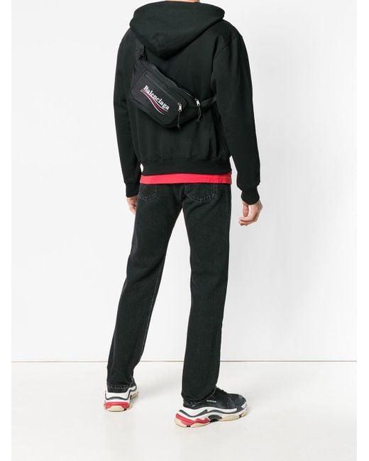6784fe2b6e Balenciaga Explorer Belt Bag in Black for Men - Save 37% - Lyst