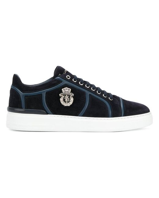 Billionaire - Blue Lace-up Sneakers for Men - Lyst