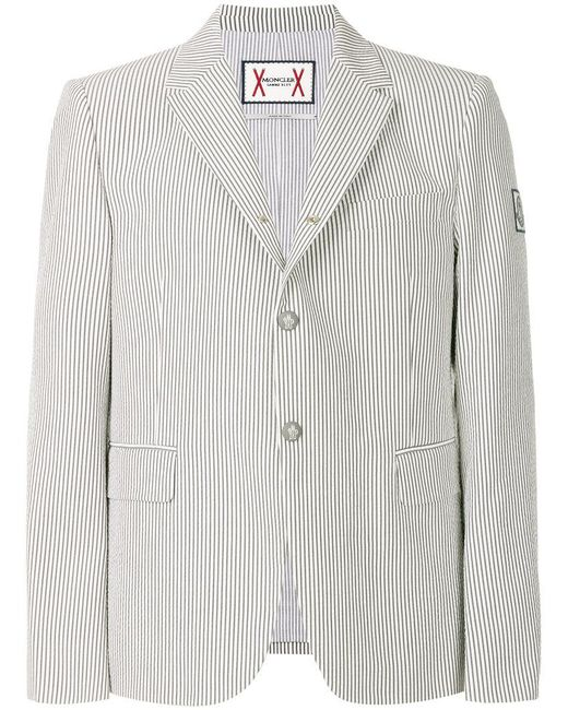 Moncler - Gray Classic Fitted Blazer for Men - Lyst