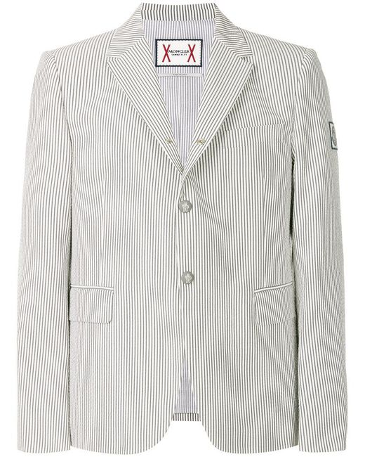 Moncler Gamme Bleu - Gray Classic Fitted Blazer for Men - Lyst