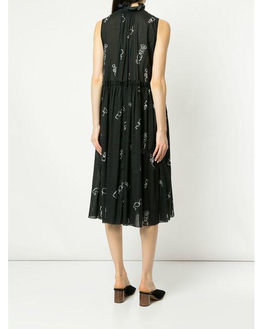907c1d65ce7 ... Karen Walker - Blue Dead Draw Dress - Lyst