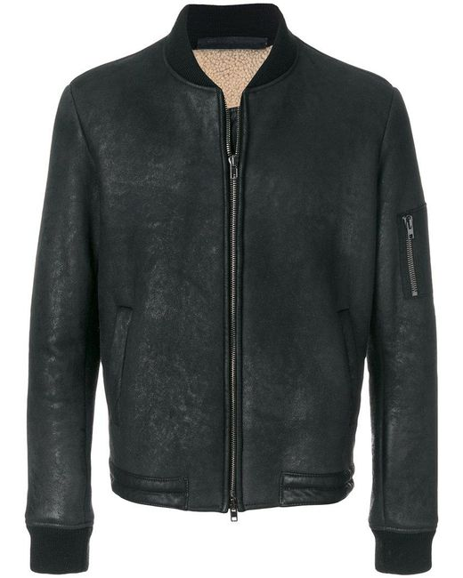 Salvatore Santoro | Black Bomber Jacket for Men | Lyst
