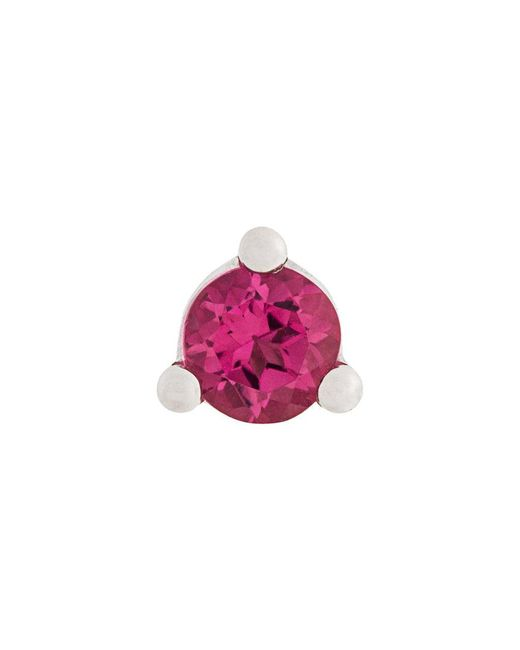Delfina Delettrez - White Dots Solitaire Tourmaline And Pearl Earring - Lyst