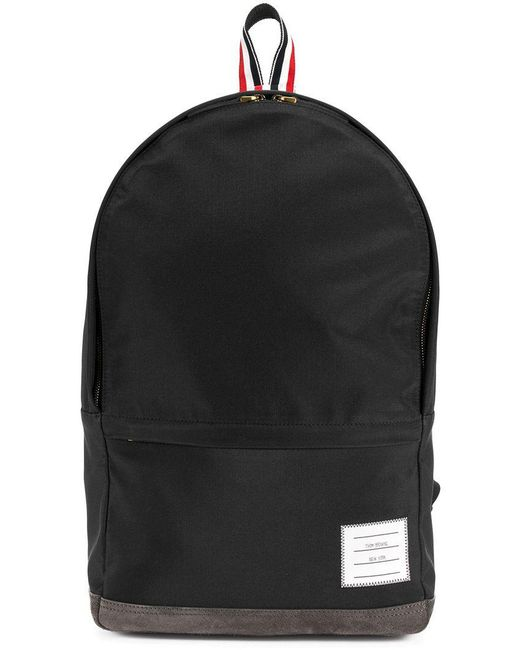 Thom Browne - Black Unstructured Backpack In Nylon And Suede for Men - Lyst