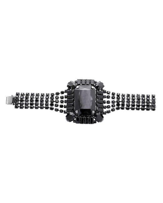 Tom Binns | Black Square Gem Crystal Bracelet | Lyst